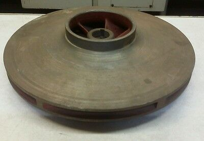 "Cast Iron Impeller 12.750""ODx1.180""Bore (30mm) with 5/16"" Keyway"