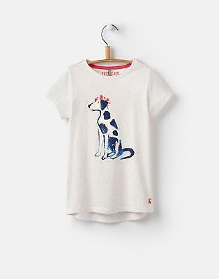 Joules Pixie Girls Jersey T Shirt 3-12 Yr in Multi Marl Dalmation