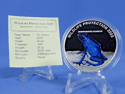 Liberia 10 Dollars 2005, Wildlife Protection , Silber **PP/Proof** ( 10740)