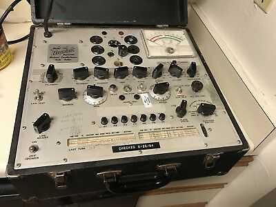 Hickok 750 Mutual Conductance Tube Tester -WORKS