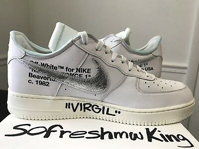 2017 Sz 1 Nike Off By Force Virgil White 13 Complexcon Air Signed KF3TJl1c