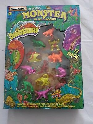 1992 Monster In My Pocket Original Dinosaurs Boxed New Matchbox Vintage Toy