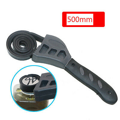 500mm Multitool Universal Wrench Rubber Strap Adjustable Spanner Repair ToolWQTY