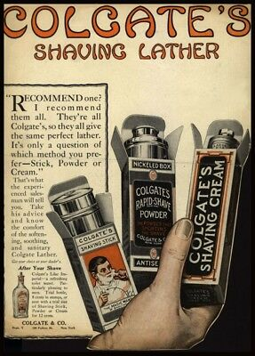 Vintage Barbershop & Salon Posters COLGATE SHAVING LATHER, America, 1919