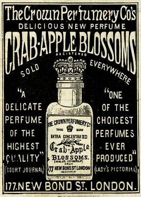 Vintage Barbershop & Salon Posters CRAB-APPLE BLOSSOMS, CROWN PERFUMERY, England