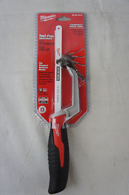 Milwaukee 48-22-0012 Compact Hack Saw 24 TPI 10-Inch Tool-Free Adjustments New