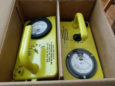Victoreen CDV-715 Model 1A Geiger Counter Radiation Detector set. FREE Shipping!