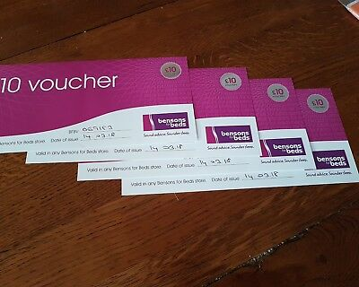 bensons for beds gift vouchers
