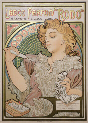 Vintage Barbershop & Salon Posters LANCE PERFUME, France, 1886 by Alphonse Mucha
