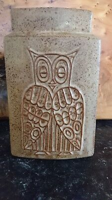 Owl and the Pussycat stoneware double sided vase