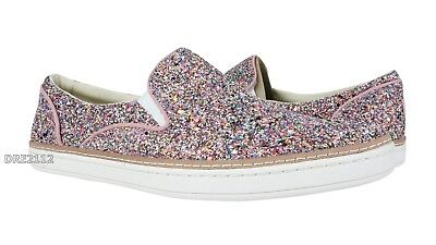 263fa677bf4 UGG ADLEY CHUNKY Glitter Confetti Leather Slip-on Sneakers Womens Size 10  *NIB*
