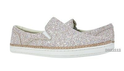 64e6070c18f UGG ADLEY CHUNKY Glitter Powder Leather Slip-on Sneakers Womens Size 7.5  *NIB*