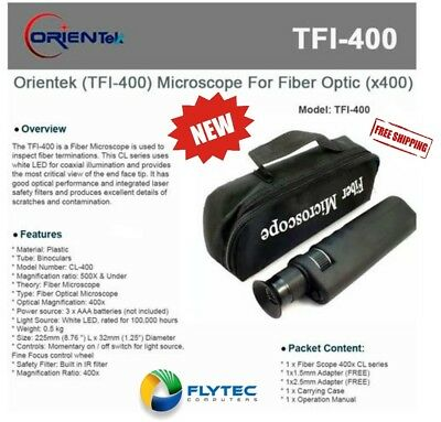 Orientek TFI-400 Microscope For Fiber Optic (x 400) (Ships from US)