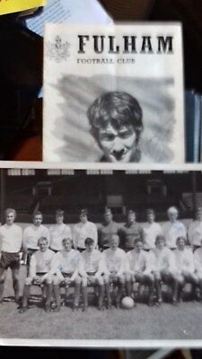 Fulham football club signed photo of team and programme versus QPR October 1970