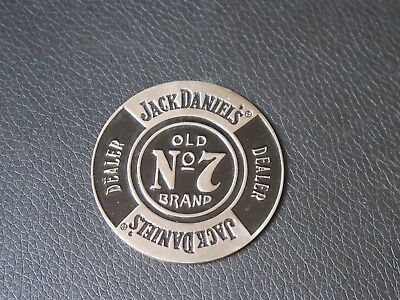 Jack Daniels Metal Dealer Chip