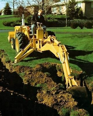 1973 Ford Tractor Backhoe Factory Photo c4076-P99QOY