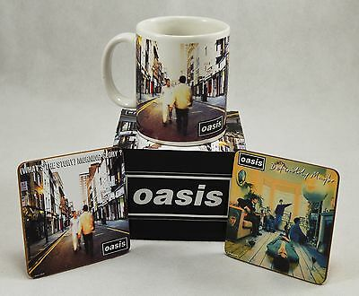 OFFICIALLY LICENSED BOXED Oasis Mug & Coasters Set ...