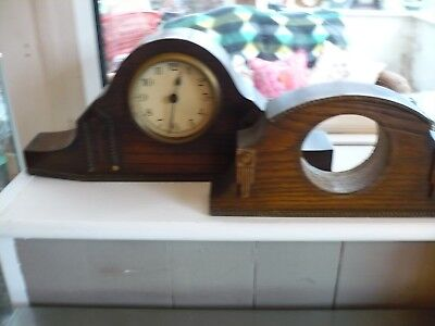 Vintage /art Deco Mantle Clock And Another Casing
