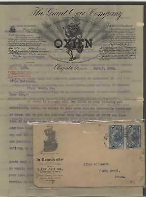 US - Good Advertising Cover With Letter Lot # 59