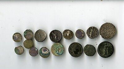 17 Assorted Foreign Coins, Some Ancient
