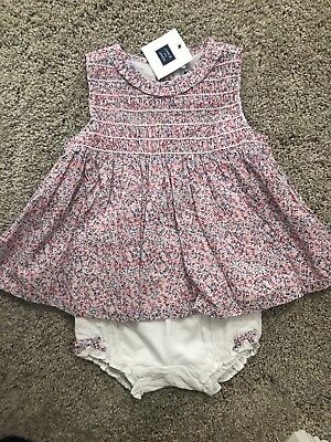 Janie And Jack Girls Floral Smocked Set Bloomers NWT 18-24 Months