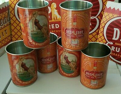 Deep Eddy Ruby Red Grapefruit vodka tin cups (6)