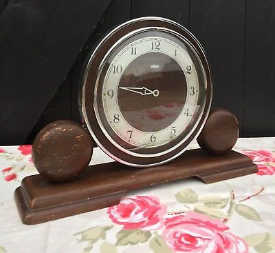 Vintage Art Deco Metamec Dereham Mantel Clock For Restoration / Spares & Repairs