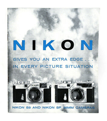 1959 -1962 Nikon Rangefinder Camera Sysyem & Accessories Brochures S3 / Sp +++