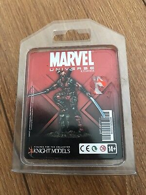 Knight Models Marvel Universe Deadpool Merc with A Mouth OOP Rare Dead Pool 32mm