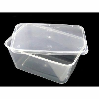 QUALITY 500ml 650ml 1000ml Plastic Microwave Containers+LIDS Clear food Storage