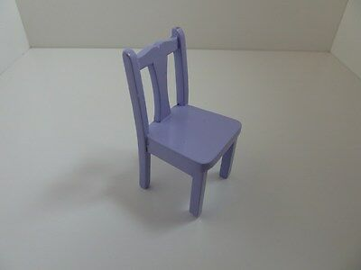 Dolls House Miniature 1:12 Scale Bedroom Nursery Furniture Lavender Side Chair