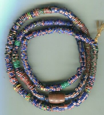 African Trade beads vintage Venetian old glass mixed Aja beads long strand