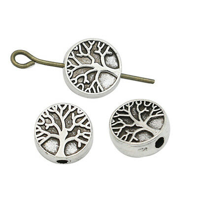 20PCS Antique Silver Tree of Life Spacer Beads Jewelry Accessories Findings DIY