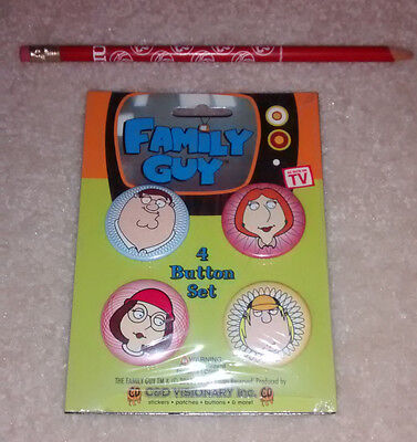 Family Guy 4 button pin set New 2004