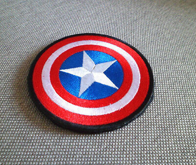 Embroidered Captain America Shield Iron Sew On Patch Clothes Bag Badge Applique~
