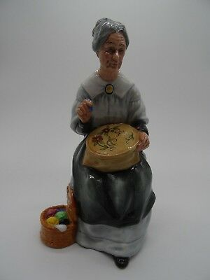 royal doulton figurine embroidering hn2855