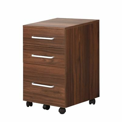 DEVAISE 3-Drawer Rolling Wood Mobile File Cabinet with Wheel, A4/Letter-Size