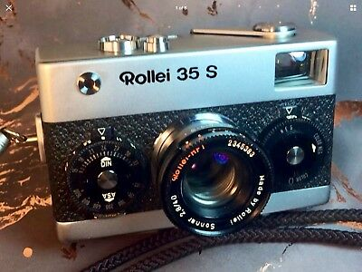 Chrome Rollei 35 S 35S Fully Functional CLA'd Near Mint Camera W/ Wrist Strap