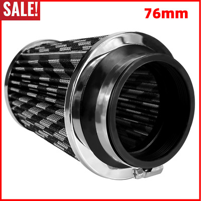 """3"""" 76mm Air Filter Clean Intake For Car High Flow Short RAM/COLD Round Cone US"""