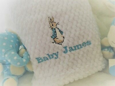 Personalised baby Blanket and/or  COMFORTER Taggy  BEATRIX POTTER PETER RABBIT