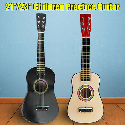 "23""/21"" Wooden Acoustic Beginners Practice 6 String Guitar For Children Kids Toy"