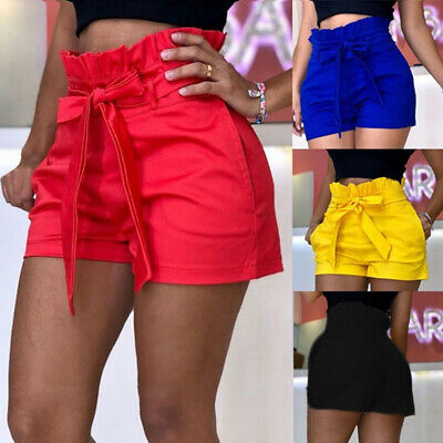 Women's Shorts Pants Loose Casual Pocket Bandage Beach Summer Overalls Trousers