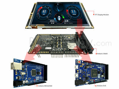 "5""TFT Display Arduino Due Mega UNO LCD Shield w/Capacitive Touch Screen 800X480"