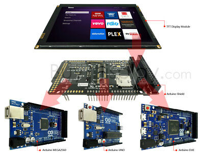 """7""""inch 1024x600 TFT Capacitive Touch Screen Shield for Arduino Due,Mega2560,Uno"""