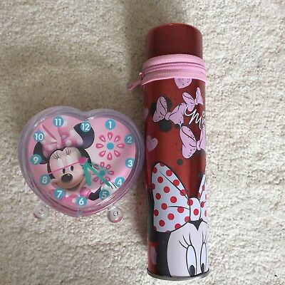 Minnie Mouse Alarm Clock And Pencil Case