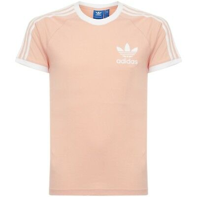Mens Adidas Originals Retro 3 Stripes California Tshirt Bq5371 Size:s,M,L,Xl