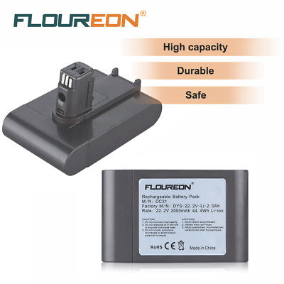 22.2V 2000mAh Vacuum Cleaner Li-ion Battery for Dyson Type A DC31 DC35 DC44 DC45