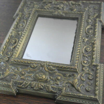 antique brass smaller size ornate WALL MOUNTED MIRROR