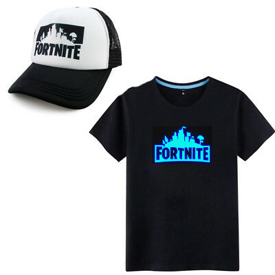 Fortnite Hat Battle Royale Kids Boys Girls Gaming Growing In The Dark T-shirt
