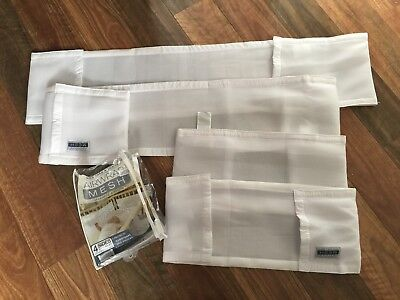 Airwrap Mesh | Cot Bumper | White | 4 Sides | Baby | Nursery | Loved | Euc